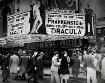 Amazing double bill of Dracula & Frankenstein at New York's Victory Theatre on legendary 42nd Street.